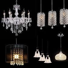 modern crystal chandelier pendant ceiling hanging cylinder lamp lighting 9type