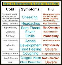 Cold Symptoms Vs Flu Symptoms Chart Pin On For The Health Of It