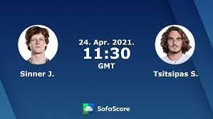 Sinner J. Tsitsipas S. live score, video stream and H2H results - SofaScore