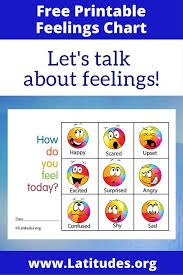 Free Feelings Chart How Do You Feel Today Colorful