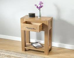 small hall table with drawers. Small Console Table Contemporary Light Oak Smaller Hall Consoled Tables With One Drawer Drawers R