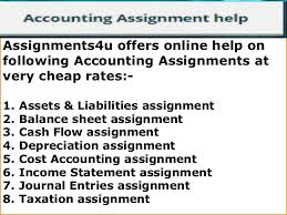 assignmentsu accounting assignment help online accounting assignme  6 assignments4u offers online help on following accounting assignments
