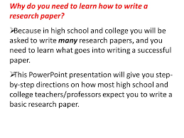 how to write a research paper why do you need to learn how to  why do you need to learn how to write a research paper