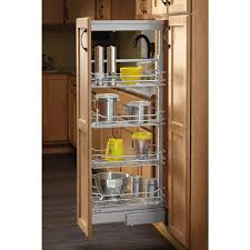 Roll Out Pantry Cabinet Rev A Shelf 74 In H X 1475 In W X 20 In D 6 Basket Pull Out