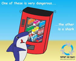 How Many People Die From Vending Machines Best Vending Machines Kill More People Than Sharks Shark Cartoons By