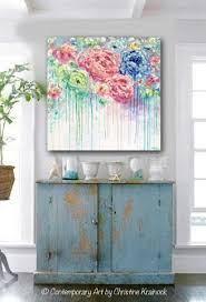 original art abstract painting flowers blue white pink floral textured xl wall art colorful peonies on wall art canvas shabby chic with original art abstract flower painting large canvas blue colorful