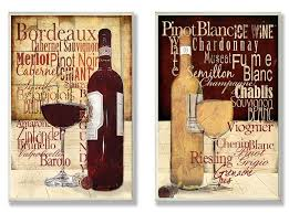 red and white wine typography kitchen