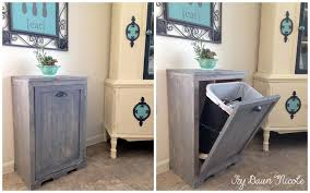 DIY Wood Tilt-Out Trash Can Cabinet | Home Design, Garden ...