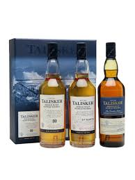 island single malt scotch whisky distillery bottling talisker gift pack 3x20cl