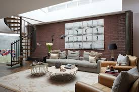 living rooms with skylights offering natural light 11 living