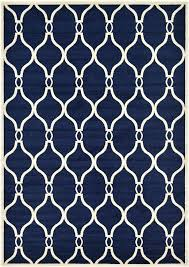 navy trellis area rug modern geometric design rugs soft carpet blue 7 x s