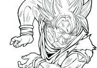 Dragon Ball Z Ultra Instinct Coloring Pages With Goku Coloriage