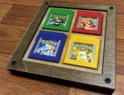 I made a frame to display my original pokemon games. : pokemon
