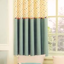 Polk Dots For Bay Window Curtains Ideas For Kids