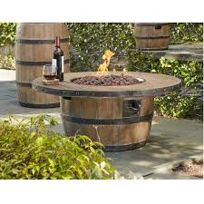 wine barrel outdoor furniture. Wine Barrel Firepit 40-inch Outdoor Furniture