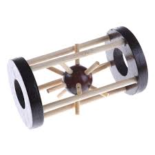 1PCS <b>Wooden Intelligence</b> Toy <b>Lock Take</b> out Spiked Ball Brain ...