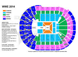 Wwe Live Seating Chart Wwe Live World Tour Presented By Dainty Group