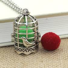 2019 birdcage aromatherapy diffuser necklace jewelry perfume locket pendant essential oil scent locket necklace with pads 040423 from herbertw