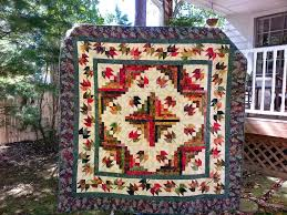 Glady's Gab on Quilts and Quotes: Maple Leaf - Log Cabin Quilt ... & This pattern is perfect for them. A special quilt for a special couple. Adamdwight.com