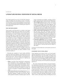 Chapter Two Literature Review Overview Of Social Media Uses Of