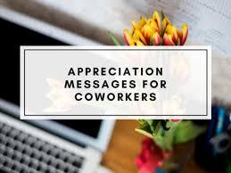 appreciation messages for a colleague