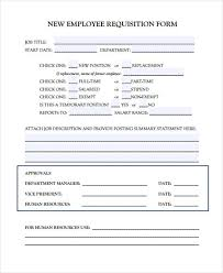 Employment Requisition Form Template - April.onthemarch.co