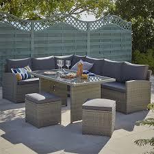 matara 7 seater corner garden sofa set