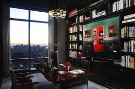 masculine home office. 19 Dramatic Masculine Home Office Design Ideas E