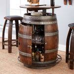 Reversible reclaimed wine barrel Coffee Table Vintage Oak Wine Barrel Bistro Table Bar Stools Whiskey Finish Coffee Books Target Modern Furniture Nyathiinfo Reversible Reclaimed Half Wine Barrel Table With Tempered Glass Top