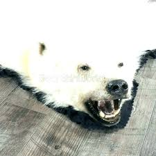 faux polar bear rug foot for real skin fake s nursery fur wit with head