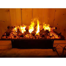 opti myst cassette 500 large with log decoration electric insert fire with 3d flame