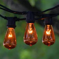 Solar Powered Retro Style String Light Bulbs Edison Bulb Outdoor Lights Patio String Led Solar Powered