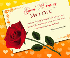 pictures of good morning love messages