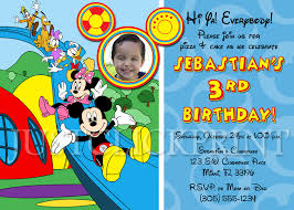 how to make mickey mouse clubhouse birthday party invitations ideas