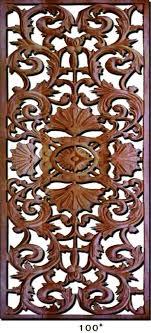 carved wood wall art panels designs set decorative wooden teak panel uk