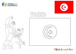 Championnat Du Monde De Handball Coloriage Tunisie