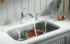 sinks kohler stainless steel sinks cast iron kitchen single bowl gray wall and glass