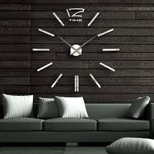 Diy Large Wall Mirror 40 Inch Modern 3d Mirror Wall Clock Diy Room Home Decor Bell Cool