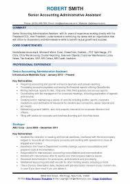 Administrative Assistant Description Resumes Accounting Administrative Assistant Resume Samples Qwikresume