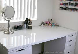 makeup storage and desk