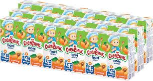 <b>Пюре Спеленок абрикосовое с</b> сахаром, 18 шт по 125 г — купить ...