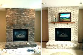 painting red brick fireplaces painted fireplace before and after fireplace brick painting brick painted fireplace ideas