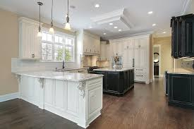 white kitchen dark wood floor. White Kitchen Cabinets With Dark Hardwood Floors Design Wood Floor D