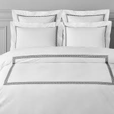 greek key bedding duvet cover full queen black