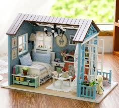 how to build miniature furniture. Doll House Furniture Diy Miniature 3D Wooden Miniaturas Dollhouse Toys For Children Birthday Gift Christmas Forest How To Build I