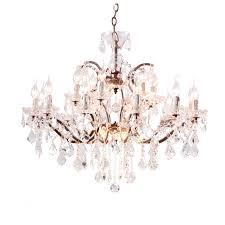crystal 26 chandelier antique rust 1