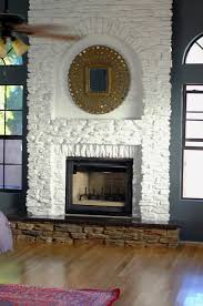 painting a fireplace whitePainting Our Faux Stone Fireplace  Little Green Notebook