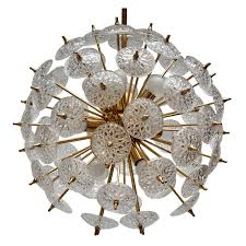 two large modernist flower sputnik chandeliers