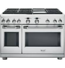 Appliances Range 48 Stainless Steel Dual Fuel Gas Sealed Burner Double Oven