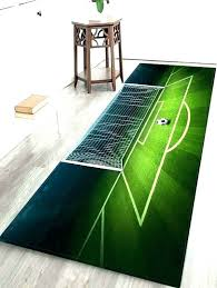 football field rug football area rug field print green inch shaped rugs quick view football area